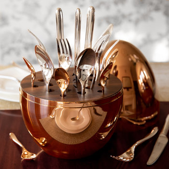 Mood Cutlery Egg - Set of 24 - Rose Gold