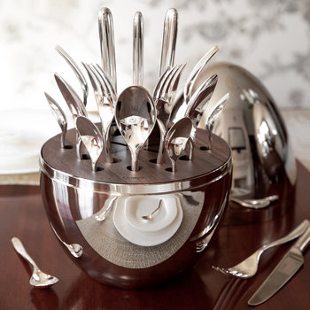 Mood Cutlery Egg - Set of 24 - Silver Plated