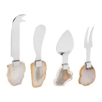 Natural Agate Cheese Knives - Set of 4