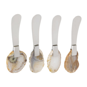 Natural Agate Butter Spreaders - Set of 4