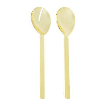 Stainless Steel Salad Server Set - Gold