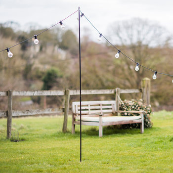 Festoon Lighting Pole