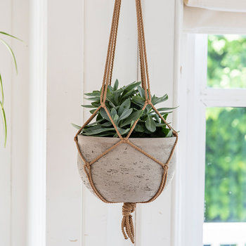 Stratton Hanging Pot - Stone