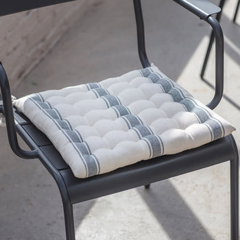 Stripe Seat Pad - Charcoal