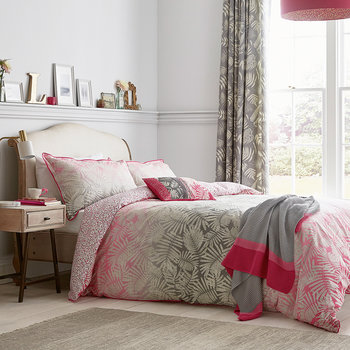 Espinillo Oxford Pillowcase - Hot Pink
