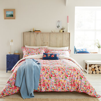 Hollyhock Meadow Quilt Cover - Multi