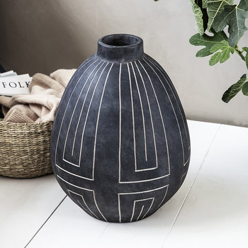 Aljeco Vase - Grey/Black