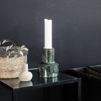 Chunk Candle Holder - Green
