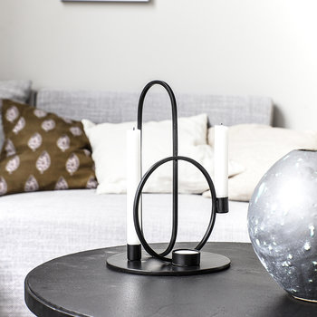 Cirque Candle Holder - Black - 30cm