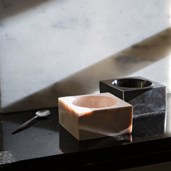Marble Square Block Bowl - Black