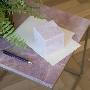 Pink Marble Paperweight