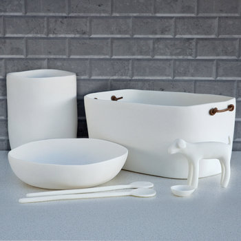 Wide Salad Bowl - White