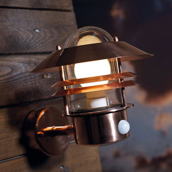 Blokhus Sensor Outdoor Wall Light - Copper
