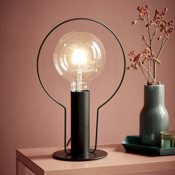 Dean Halo Table Lamp - Black