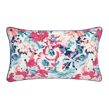 Cottage Garden Border Stripe Cushion - Multi - 50x30cm