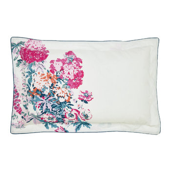 Cottage Garden Floral Oxford Pillowcase - White