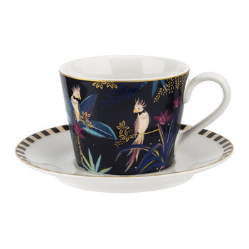 Tahiti Collection Teacup and Saucer - Cockatoo
