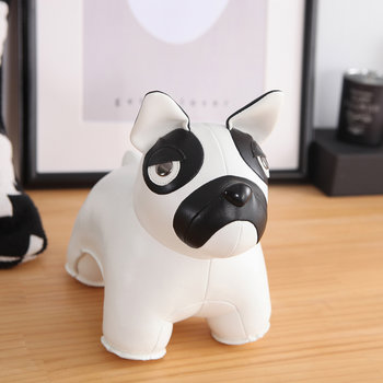 French Bulldog Bookend - Black/White