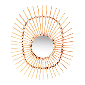 Oval Bamboo Mirror