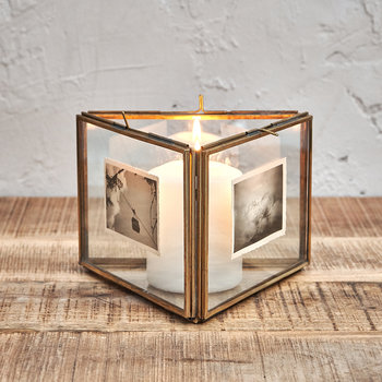"Danta Triple Frame - 5x7"" - Antique Brass"