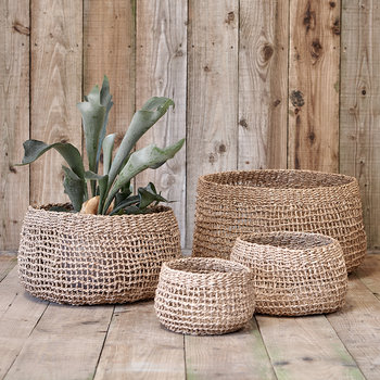 Mendi Short Seagrass Basket - Natural