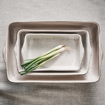 Nzari Rectangle Dish - Cream