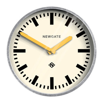 The Luggage Galvanised Wall Clock - Yellow Hands