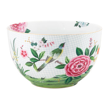 Blushing Birds Serving Bowl - White