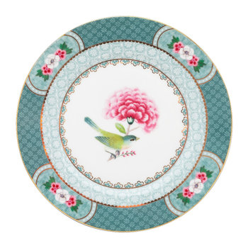 Blushing Birds Side Plate - Blue