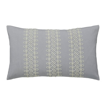 Chiswick Grove Cushion - Silver - 50x30cm