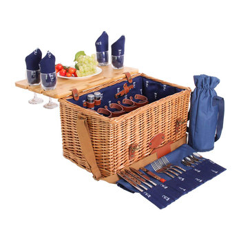 Saint-Honore Picnic Basket - 4 Person - Blue
