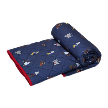 Quilted Picnic Rug - Blue Dog