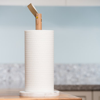 Acacia & Marble Kitchen Roll Holder