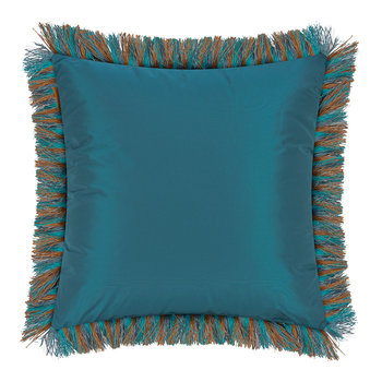 Colombara Tassel Edged Cushion - 45x45cm - Teal