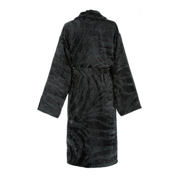 Zebrage Shawl Bathrobe - Anthracite