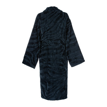 Zebrage Shawl Bathrobe - Blue