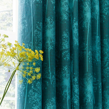 Dill Lined Curtains - Dark Aqua