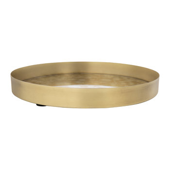 Malene Tray - Brass/Brown