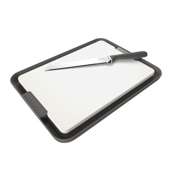 Chopping Board & Tray Set - Grey