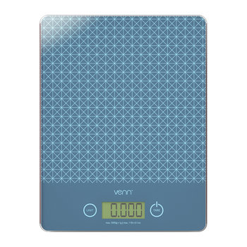 Digital Scales with Integrated Bowl Scraper - Blue