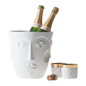 Faces Champagne Cooler - Satin White