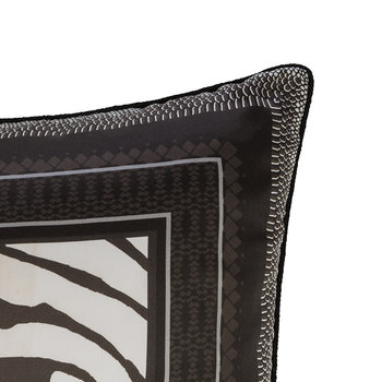 Frame Zebrage Silk Cushion - Grey