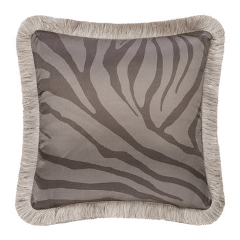 Macro Zebrage Monogram Cushion - 40x40cm - Blue