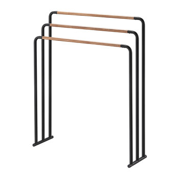 Freestanding Towel Rack - Black