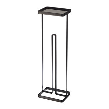 Toilet Roll Stand & Tray - Black