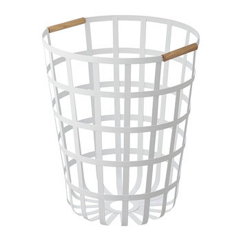 Tosca Round Laundry Basket - White