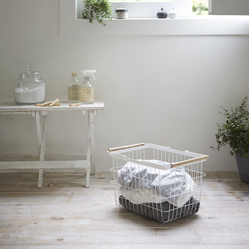 Tosca White Laundry Basket