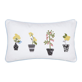 Garden Dogs Pillow - White - 30x50cm
