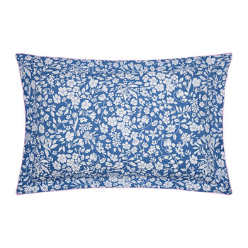 Orchard Ditsy Oxford Pillowcase - Blue Yonder