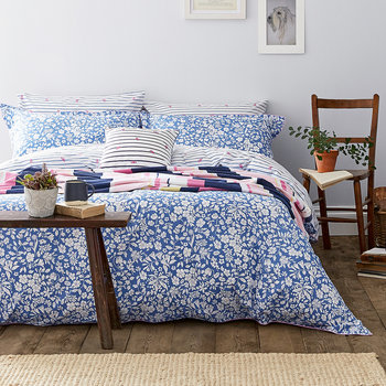 Orchard Ditsy Quilt Cover - Blue Yonder